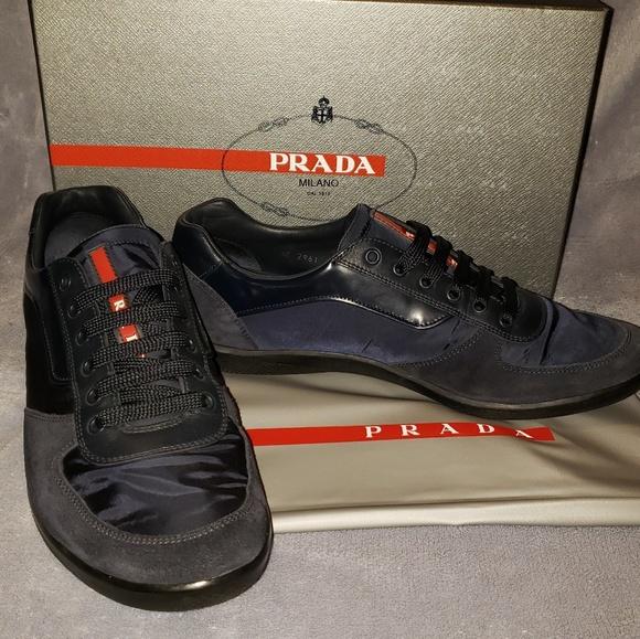 Prada Shoes   Suede Nylon Sneakers